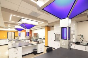 Completed laboratory with equipment installed